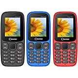 Snexian FIRE 105 Feature Mobile Phone Pack Of 3 Mobiles (Black+Blue+Red) With 1.8 Inch, Dual Sim, Open FM, 1000 Mah Battery, Bluetooth, Camera, Upto 16 GB Expandable Memory, BIS Certified & 1 Year Warranty