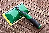 TDBS The Dustpan and Brush Store - Aplicador de madera para cubrir cobertizos y vallas, almohadilla de pintura diseñada para aplicar manchas de pintura y tratamiento a cobertizos y vallas