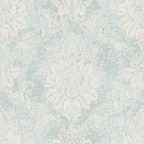 Rasch Papiertapete in mint weiß silber Ornament floral Muster 204810 -