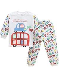 Free Fisher Baby Jungen/Mädchen Zweiteiliger Schlafanzug( Oberteil Langarm+ Hose)