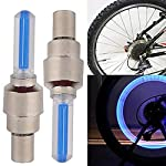ZIGLY LED Fireflys Wheel Valve Cap for Bicycle, Motorcycle and Cars Set 2 Pc,Blue