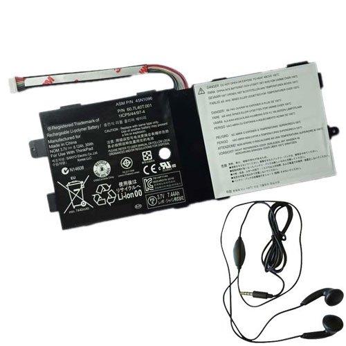 amsahr 45N1096-03 Ersatz Batterie für Lenovo 45N1097 (3.7V, 8120mAh) Umfassen Stereo Ohrhörer schwarz 8120 Stereo