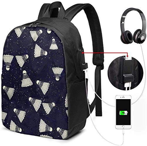 RROOT Root Unisex Rucksack mit USB-Ladeanschluss, Badminton in Dream Stars, klassisch, modisch