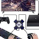 BestGay Adapter, KX USB Game Controller Konverter Tastatur Maus Adapter für Switch/Xbox / PS4 / PS3, Schwarz