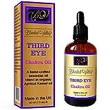 Blended Valley Chakra Öl Third Eye - Duftöl Für Yoga, Meditation, Aromatherapie, Entspannung - Ätherische Öle aus Rosmarin, Patschuli Helfe der Intuition - Für Aroma Diffuser, Luftbefeuchter, Armband.