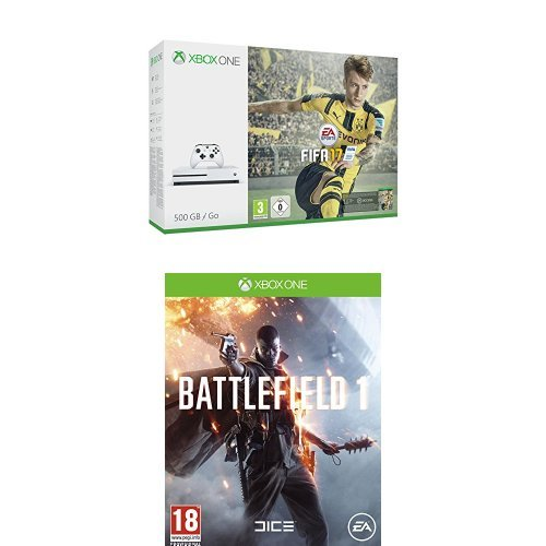 Pack Console Xbox One S 500 Go + Fifa 17 + Battlefield 1