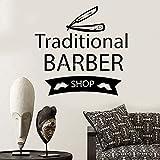 yaoxingfu Anpassbare Barber Shop Wandtattoos Kunst Traditionelle Barbiere Fenster Zeichen Aufkleber...
