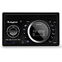 Auna MD-210 BT RDS Bluetooth Negro receptor multimedia para coche - Radio para coche (4.0 canales, FM, Negro, MMC,SD, 75 W, 875 g)