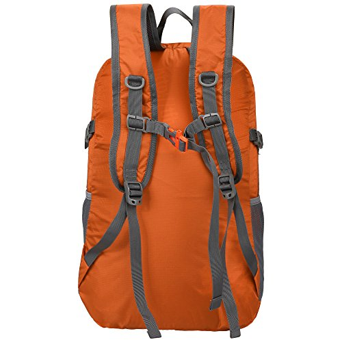 Homdox unisex Wanderrucksack, 25L Orange 3