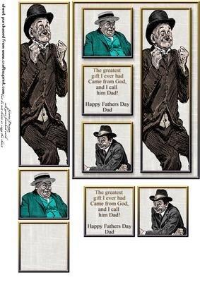 Cardtopper molti 313 by Gertraud Lueckel uomo