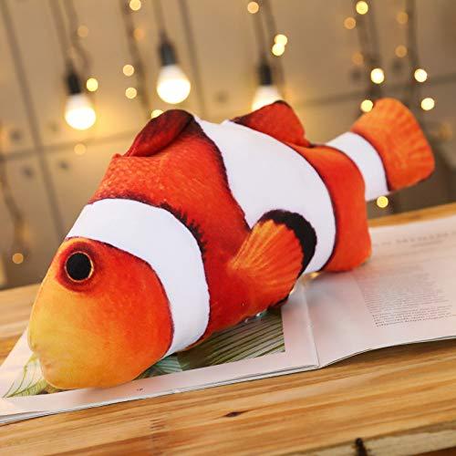 FFDGHB Cuscino Pesce Giocattolo Bambola Calamari Calamari Pesce Salato Peluche Riempimento Bambola Giocattolo Regalo di Compleanno 30Cm