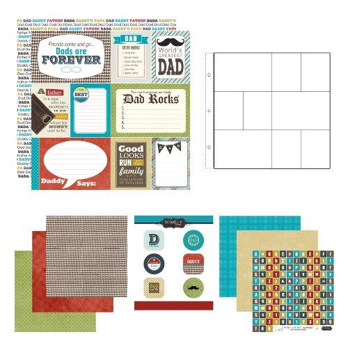 Scrapbook Customs Mottopapier und Aufkleber Scrapbook-Kit Dad -
