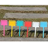 New 10pcs/set Plastic T-type Garden Gardening Label Plant Flower Nursery Label Tag Marker Flower Thick Colorful for Garden Pink