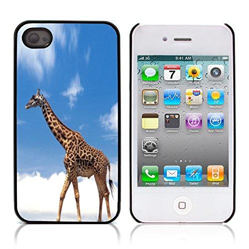 Graphic4You Giraffe Tier Design Harte Hülle Case Tasche Schutzhülle für Apple iPhone 4 und 4S Design #4