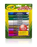 Crayola - 69-3527-E-000 - Lot de 9 Tubes de Colles Pailletées - Couleurs Assorties