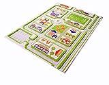 Little Helper IVI Tapis de Jeu pour Enfants Epais en 3D Design Circulation Urbaine Colorée avec Parkings Routes & Terrain de Football en 3 Dimensions Vert 100 x 150 cm