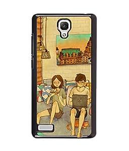 Printvisa living room scene of a couple Back Case Cover for Xiaomi Redmi Note::Xiaomi Redmi Note 4G