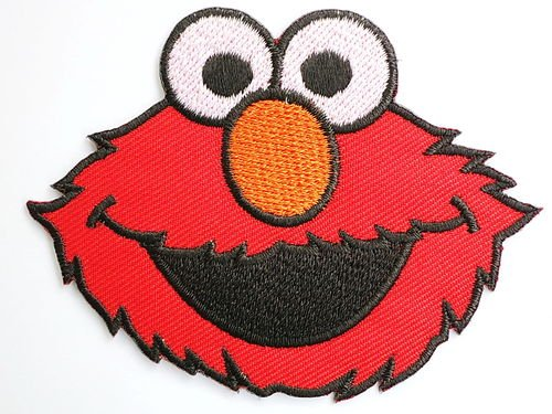 elmo-sesame-street-badge-patch-iron-on-sew-applique-embroidered-emblem-ecusson-brode-patche-patches