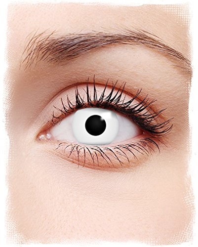 Weiße Zombie Kontaktlinsen für Halloween als - Spezial Kontaktlinsen Halloween Effekte