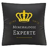 Mineralogía experto en colour negro y funda de almohada