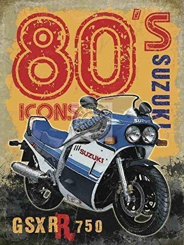 RKO Gsxr 750 Suzuki 1980's Icon. Moto Bike-Parent - 30 x 40 cm