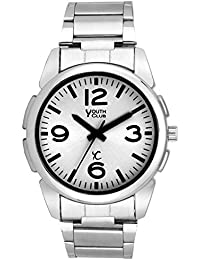 YOUTH CLUB SIMPLE WITH STEEL LOOK ANALOG WHITE DIAL BOY'S WATCH-WHTCHN-62