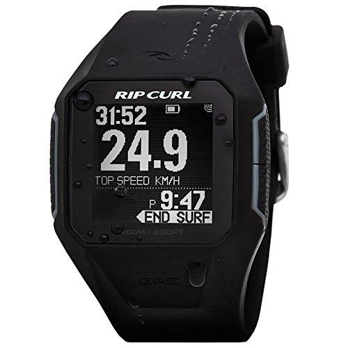Rip Curl SearchGPS inteligente Surf Watch en A1111 NEGRO  El SearchGPS reloj Rip Curl es como ningún otro en la alineación. El seguimiento de su resaca inscriba su velocidad máxima y la distancia y acumular su cuenta de la onda en cada sesión.   Sinc...