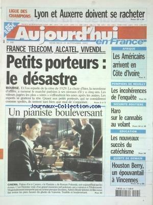AUJOURD'HUI EN FRANCE [No 398] du 25/09/2002 -...
