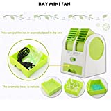#4: Ray (TM) Mini Small Fan Cooling Portable Desktop Dual Bladeless Air Conditioner with DC 5v USB Wire FREE