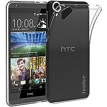 HTC Desire 820 Funda, iVoler TPU Silicona Case Cover Dura Parachoques Carcasa Funda Bumper para HTC Desire 820, [Ultra-delgado] [Shock-Absorción] [Anti-Arañazos] [Transparente]- Garantía Incondicional de 18 Meses