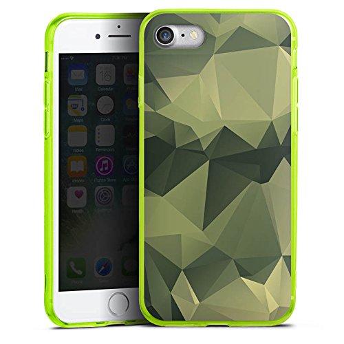 Apple iPhone 8 Silikon Hülle Case Schutzhülle Camouflage Muster Tarnfarben Silikon Colour Case neon-grün