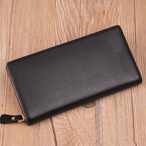 Männer 'Langer Abschnitt Reißverschluss Brieftasche Geschäft Lässig Multi-Karte Hand Halten Tasche Jugend Handtasche Mann C