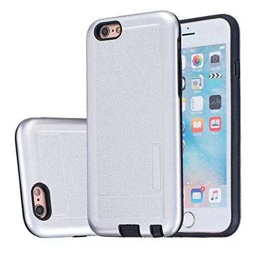 iPhone Case Cover 2 in 1 neue Rüstung Solid Color Dot Muster mattiert Stil Hybrid Dual Layer Rüstung Defender PC Hard zurück Fall Deckung Shockproof Fall Für Apple IPhone 5S SE ( Color : Gray , Size : Silver
