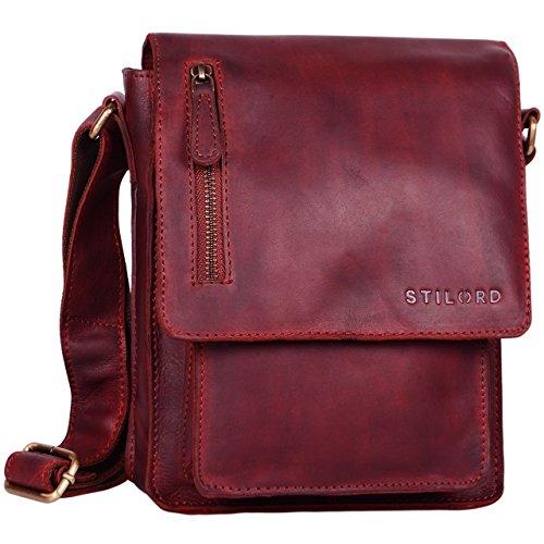 STILORD 'Finn' Borsello da uomo in vera pelle Borsa a tracolla per Tablet da 8, 4 pollici in cuoio Resistente borsetta messenger stile vintage di