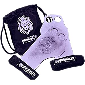 Gymnastics Grips Crossfit - GYMNASTICS, CROSSFIT, WEIGHTLIFTING - Deadlifts, Pull-Ups, Chin-Ups, Kettlebell Swing - Hand & Wrist Protection - Small UNBROKEN Bag includes Grips for CrossFit and Weightlifting - Gymnastics Protection against Rips & Calluses - Genuine Leather - Black - Small