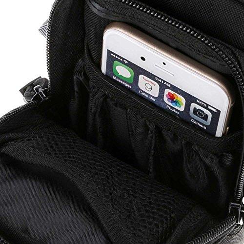 ruifu Nylon Wasserdicht Outdoor Tactical MOLLE Mehrzweck Utility Gadget Tasche Taille Tasche Schwarz