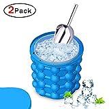 Ice Cube Maker con Pala Ice genie Ice bucket Ice bucket de silicona CUBITERA con pala, Cubo de Hielo...