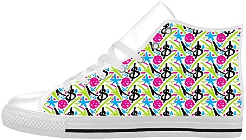 Cool Men shoes Aquila High Top aus Leder  fuumlr Herren  fuumlr den Innenbereich  bequeme Sneaker mit Graffiti Design