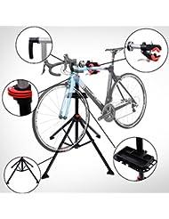 Bicicletas Soporte de Pie 100 a 190cm Reparacion Bicicletas con Bandeja Herramientas Bici