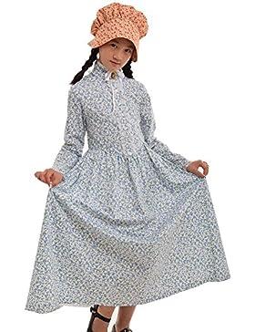 GRACEART Victoriana Pionero Pradera Colonial Niña Disfraz