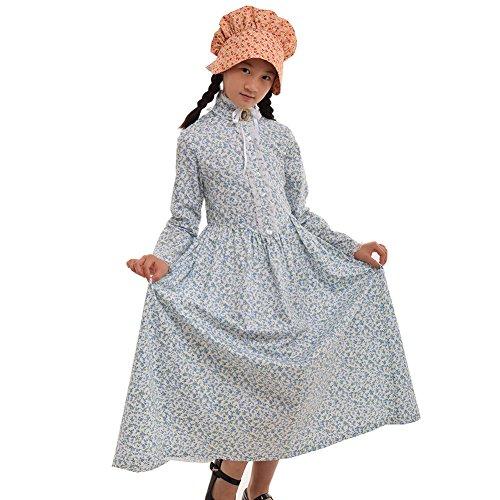 GRACEART Reenactment Pionier Prärie Kolonialen Mädchen Kostüm (US Size-10, (Mädchen Bürgerkrieg Kostüm)