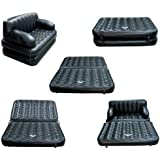 Goank 5 In 1 Air Sofa Cum Bed With Pump Lounge Couch Mattress Inflatable (3 Seater)