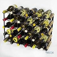 Classic 30 bottiglia (6x4) in noce e nero di vino, in metallo Pronto assemblati
