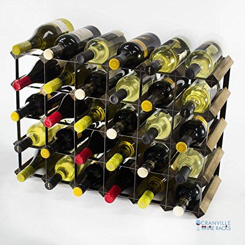 Classic 30 bottiglia (6x4) in noce e nero di vino,