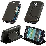 N03- Schwarz Flip Cover für Samsung Galaxy S3 Mini i8190 Schutzhülle Hülle Schutzschale Schale Handytasche Tasche Etui Case