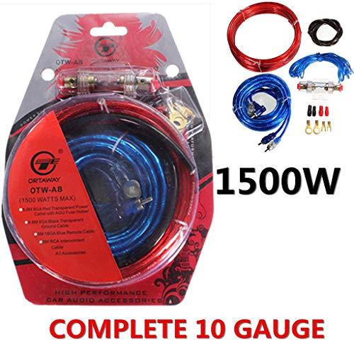YANFEN 1500 W Gauge Auto Audio Verstärker Subwoofer Verstärker Kabel-Sicherungshalter Draht Kabel Kit Geben (1500 Auto-verstärker Watt)