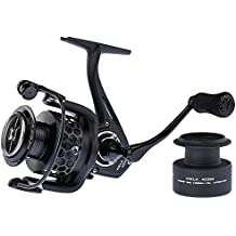 KastKing® Mela Spinning Reel - Light, Smooth, Powerful and Comes with a FREE Spare Spool - 2016 Newly Released Spinning Fishing Reel Gives You Years of Fishing Fun (BLACK, Mela4000)