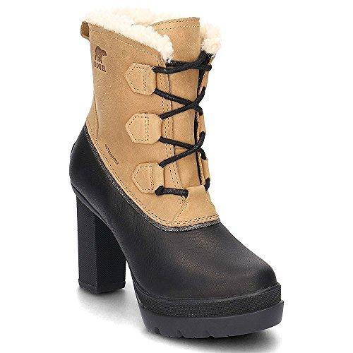 Sorel Damen Bottes D'hiver Nl2079-052 Glacy Explorer Shortie Doublées Cava Grey Brown