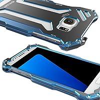 New r-just Armor King Edelstahl Handy Tasche Cover Metall Hülle für Samsung Galaxy S7Luftfahrt-Aluminium Fällen–Blau