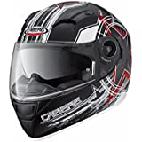 Caberg VOX Freehand –Casco integral, mate, color negro y rojo